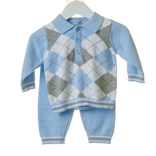 Bluesbaby knit set.