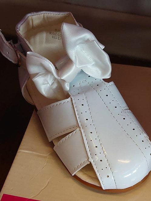 Tia London White Patent Sandal