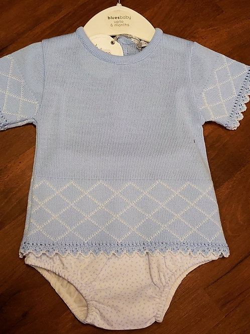 Bluesbaby Knitted Romper & Jam Pants