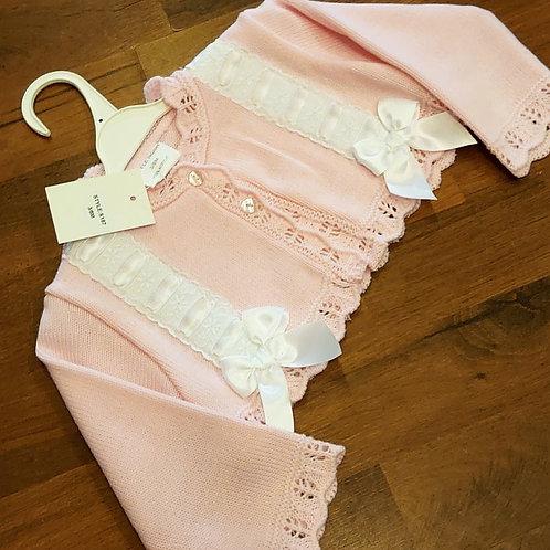 Little Nosh Pink Bolero Cardigan