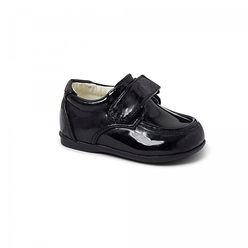 Sevva Black Patent Velcro Shoes