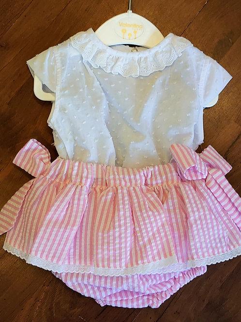 Valentina Candy Stripe Skirt & Blouse