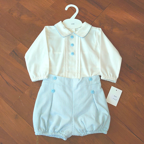 Little Nosh Traditional Stripe Short Set
