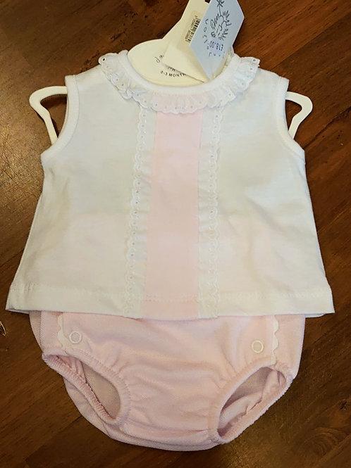 Dandelion Sleeveless Pink 2pce