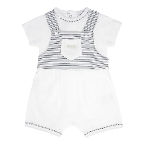 Bluesbaby White Dungaree Romper
