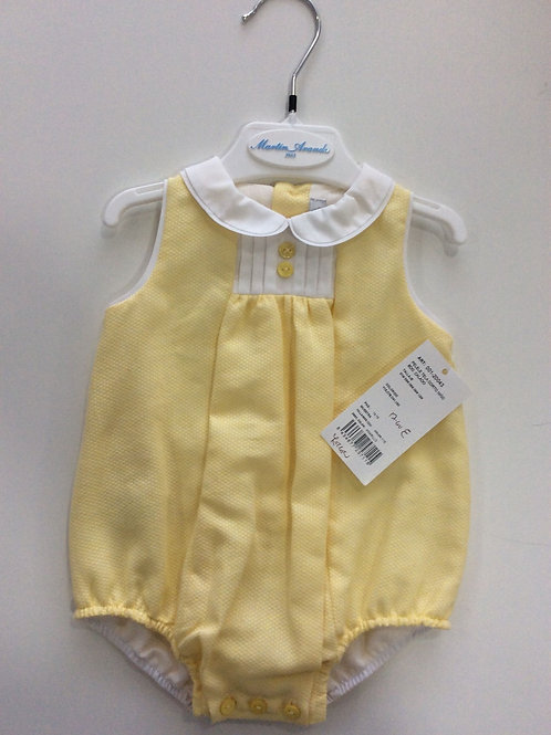 Martin Aranda Lemon Collared Romper