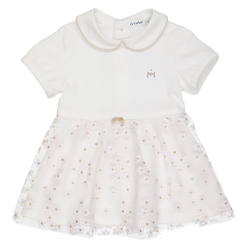 GYMP Cream Floral Skirt Dress