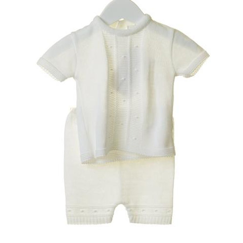 Bluesbaby White Knitted 2pce