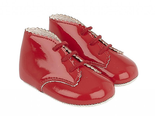 Baypods Red Patent Lace Up Pram Shoes
