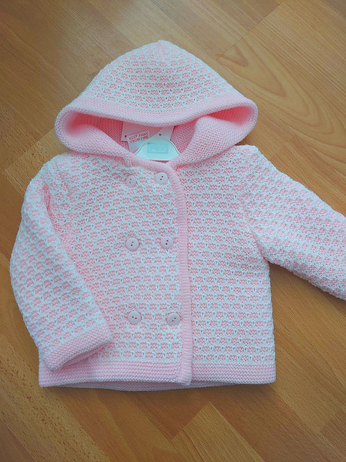 PEX White & Pink Knitted Jacket