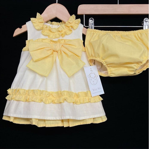WeeMee Spanish Yellow A-line Dress with Pants