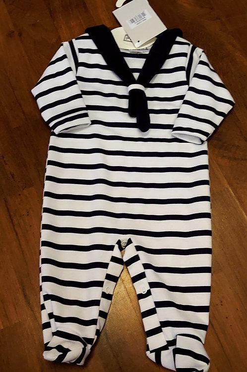 Pex Navy Stripe Babygrow