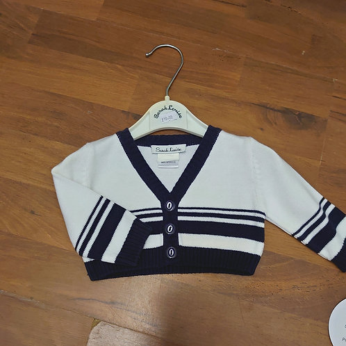 Sarah Louise White & Navy Cardigan