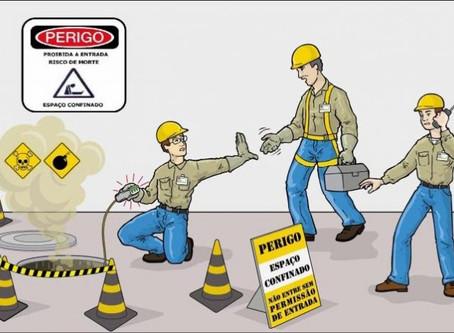 Quais os riscos para trabalhadores em espaços confinados?