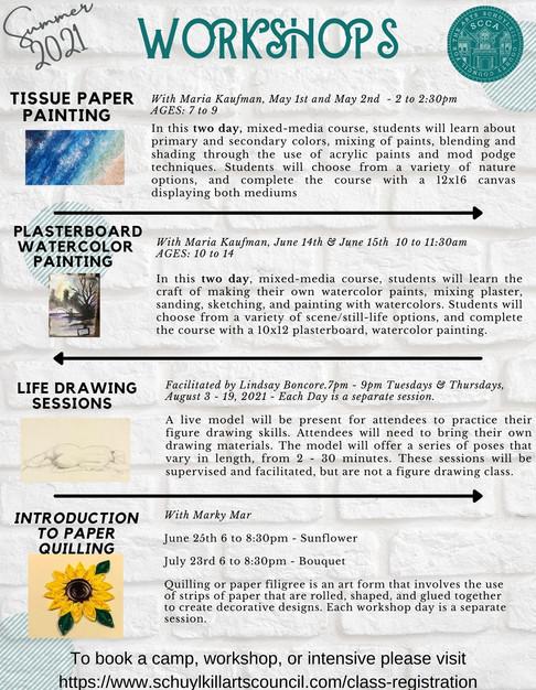 SCCA Summer Workshops!