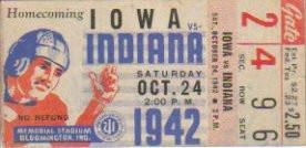 1942 @ Indiana Ticket