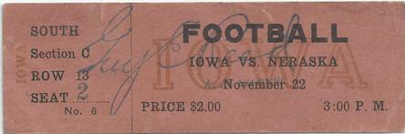 1913 @ Nebraska Ticket