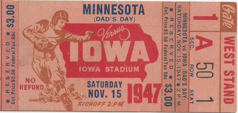 1947 Minnesota Ticket