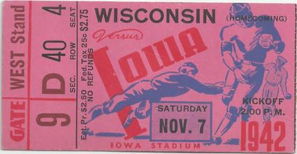 1942 Wisconsin Ticket