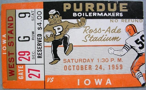 1959 @ Purdue Ticket