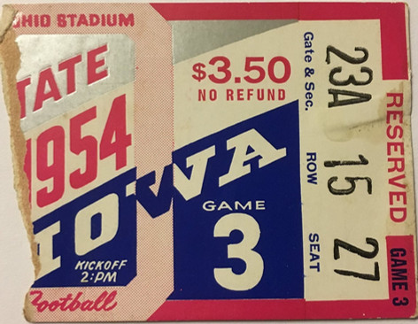 1954 @ Ohio State Ticket