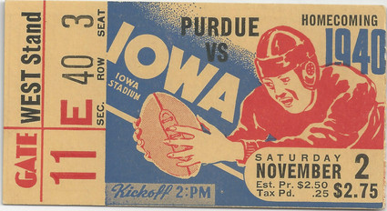 1940 Purdue Ticket