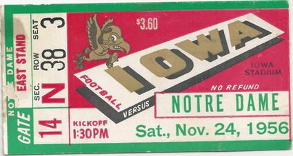 1956 Notre Dame Ticket