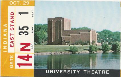 1966 Indiana Ticket