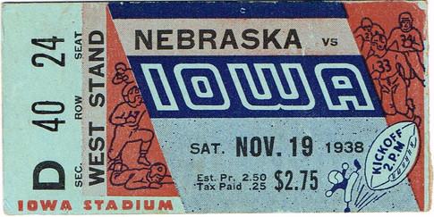 38 Nebraska Ticket