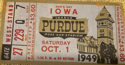 1949 @ Purdue Ticket