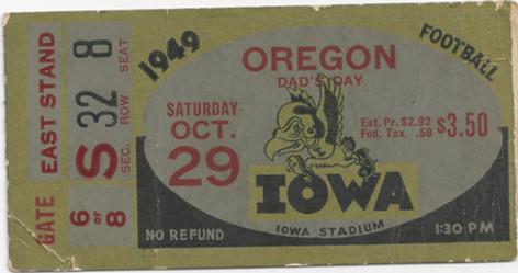 1949 Oregon Ticket