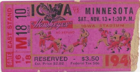 1948 Minnesota Ticket