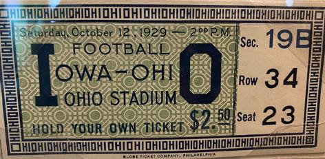 1929 @ Ohio State Ticket