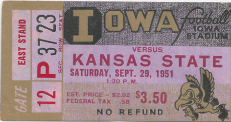 1951 Kansas State Ticket
