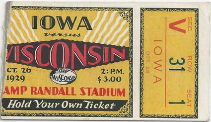 1929 @ Wisconsin Ticket