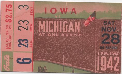 1942 @ Michigan Ticket
