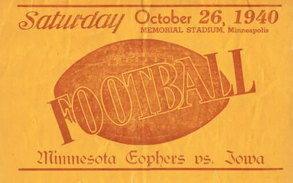 1940 @ Minnesota 2nd Program