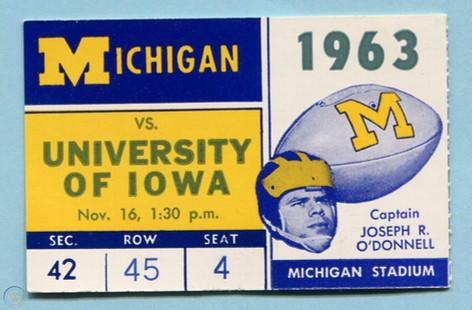 1963 @ Michigan Ticket