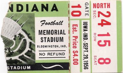 1956 @ Indiana Ticket