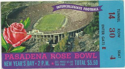1959 Rose Bowl Ticket