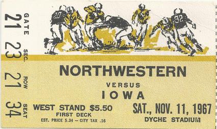 1967 @ Northwestern Ticket