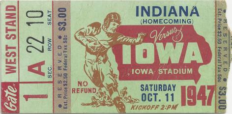 1947 Indiana Ticket