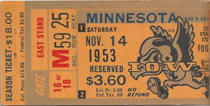 1953 Minnesota Ticket