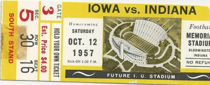 1957 @ Indiana Ticket