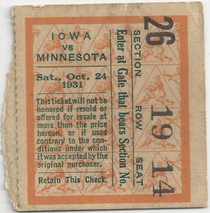 1931 @ Minnesota Ticket