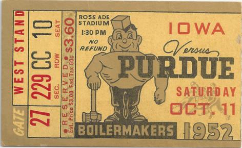 1952 @ Purdue Ticket