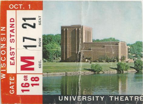 1966 Wisconsin Ticket