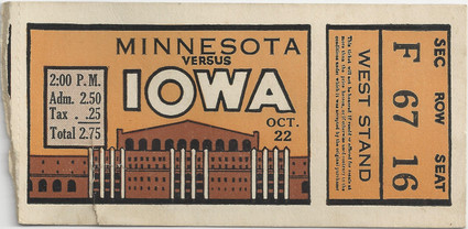 1932 Minnesota Ticket