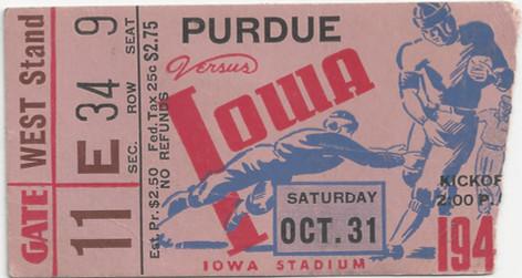 1942 Purdue Ticket