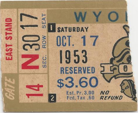 1953 Wyoming Ticket